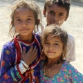 Children from a gypsy dance troupe that performed for us the night before.